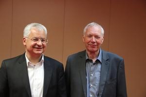 Vorstandsvorsitzender Prof. Joaquin Diaz und Geschäftsführer Michael Fritz<br />