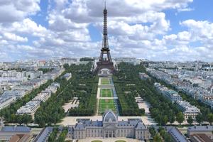Ein BIM-Modell bildet rund 2,4 km<sup>2</sup> Fläche der Innenstadt von Paris ...<br />