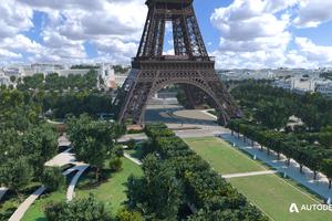 ... rund um den Eiffelturm ab.<br />