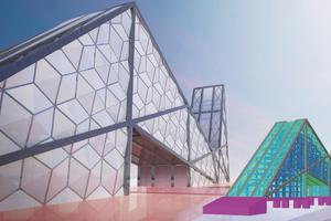 """Das Projekt """"Lodz City Gate"""" besteht aus mehreren Materialien: Stahl, Stahlbeton und Glas.<br />"""