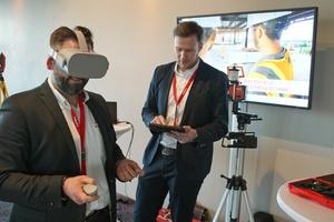Auf dem Hilti Forum konnte man BIM-to-Field mit der VR-Brille erleben.