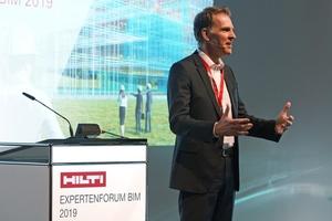 Dr. Stefan Nöken, Mitglied des Vorstands der Hilti AG, eröffnete das Hilti Expertenforum BIM 2019 in Frankfurt am Main.