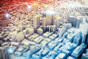 """<div class=""""bildtext"""">3D-Rendering einer Stadt – die Digitalisierung treibt die ganze Baubranche um.</div>"""