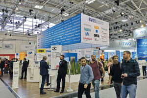 """<div class=""""bildtext"""">Der Bundesverband Bausoftware (BVBS) war mit einem 178 m<sup>2 </sup>großen Gemeinschaftsstand vertreten. </div>"""