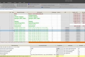 """<div class=""""bildtext"""">Fortgeschrittene Kostenermittlung in der Struktur eines CPIXML-Modells in """"California.pro"""" sortiert nach Bauteilen</div>"""