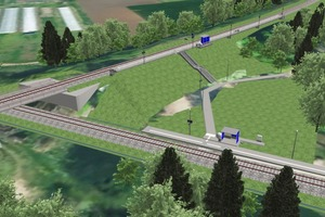 """<div class=""""bildtext"""">Darstellung des Bahnhofs Werbig im Osten von Brandenburg, der 2015 auf Basis von BIM erneuert wurde.</div>"""