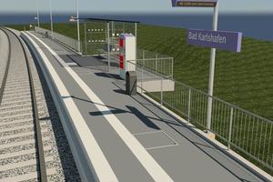 """<div class=""""bildtext"""">Nach erfolgreichen BIM-Pilotprojekten startete der Bahnhofsbetreiber im Jahr 2016 die Planung von über 60 Projekten mit der BIM-Methodik; hier der Bahnsteig im nordhessischen Bad Karlshafen.</div>"""