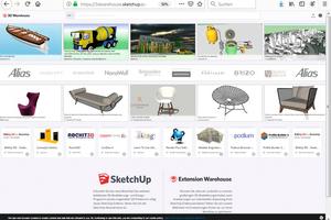 """<div class=""""bildtext"""">… oder Datenbanken wie das Google-""""3D Warehouse"""" bieten Nützliches zum Nulltarif.</div>"""