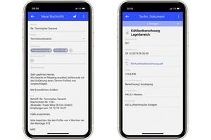 """<div class=""""bildtext"""">Nachrichten und Dokumente auf dem Smartphone</div>"""