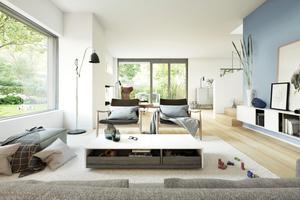 """<div class=""""bildtext"""">Visualisierung eines Wohnzimmers (Rendering)</div>"""