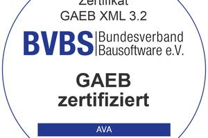 """<div class=""""bildtext"""">Die BVBS-Prüfsiegel für die Zertifizierung nach der aktuell bestehenden Version """"GAEB XML 3.2"""" gibt es für AVA, Bauausführung und Mengenermittlung in neuem Design.</div>"""