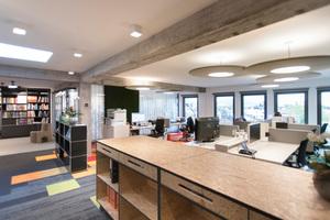 """<div class=""""bildtext"""">Büro von XQuadrat im revitalisierten ehemaligen Kaufhaus </div>"""