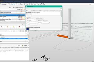 """<div class=""""bildtext"""">In dem Projekt arbeiten TGA-Planung, Tragwerksplanung, Architektur und Holzbau BIM-basiert. Im Bild lassen sich die sog. """"Issues"""" nach der Modellprüfung des TGA-Modells erkennen sowie im Fenster """"Problemdetails"""" deren Beschreibung. </div>"""