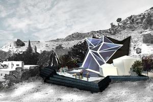 """<div class=""""bildtext"""">Ein Einfamilienhaus erzeugt durch Künstliche Intelligenz (KI) in Zusammenarbeit mit Zemin Yang.</div>"""