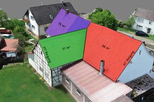 """<div class=""""bildtext"""">Auch Dachflächen können für Angebote oder für die Installation von Photovoltaikanlagen schnell erfasst werden.</div>"""