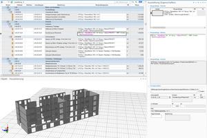 """<div class=""""bildtext"""">Berechnung von Kontaktflächen mit RIB-""""iTWO"""": Hier werden die Mengen der Putzflächen dadurch unterschieden, ob sie an eine Mauerwerks- oder Stahlbetonwand grenzen.</div>"""