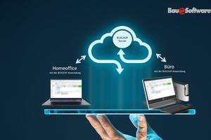 """<div class=""""bildtext"""">Mit der """"Buildup cloud"""" lässt es sich im Büro, zu Hause oder unterwegs arbeiten.</div>"""